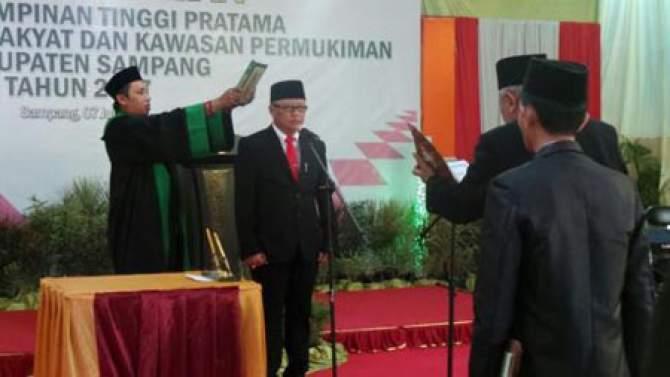 Bupati Fadhilah Lantik Empat Pejabat Hasil Lelang