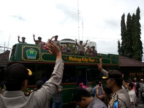 Kapolres Makota Lepas 45 Purnawirawan