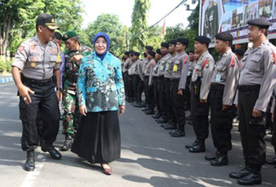 Polresta Probolinggo Gelar Pasukan Amankan Pilwali