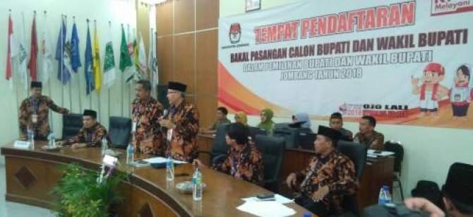 Tiga Paslon Telah Daftar ke KPU Jombang