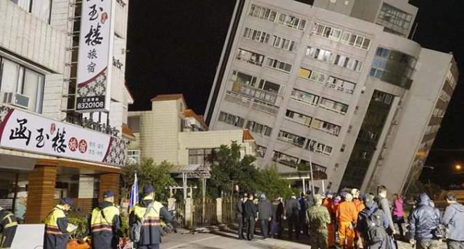 Gempa Taiwan, 6 Tewas, Ratusan Terluka