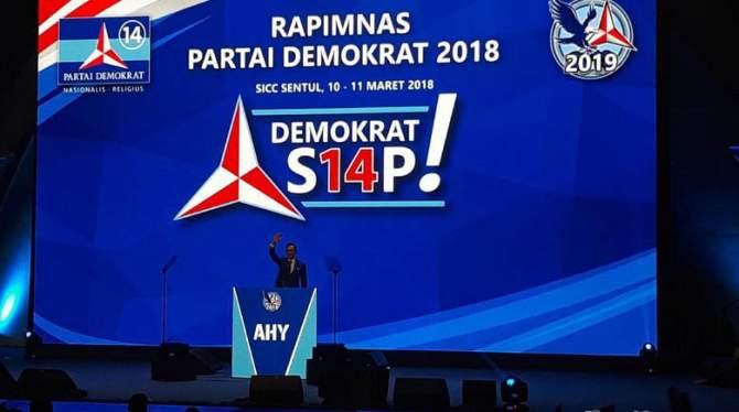 Rapimnas PD, AHY Apresiasi Bung Karno hingga Jokowi