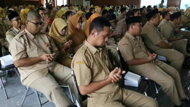 Ratusan Guru PAI non PNS Wadul ke Dispendik dan Kemenag