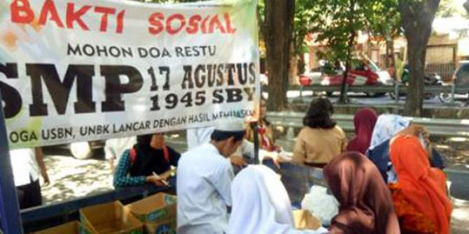 SMPTAG Bakti Sosial, Smamda Deklarasi UNBK Jujur