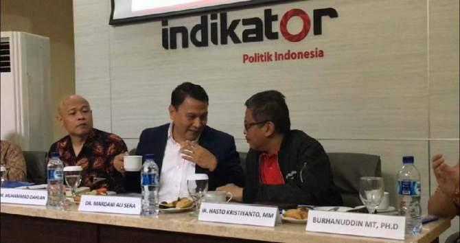 Indikator: Jokowi-Ma'ruf 54%, Prabowo-Sandi 34%